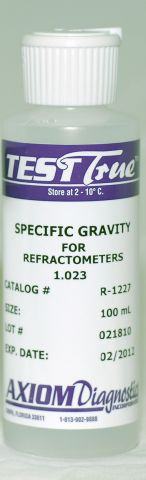 Refractometer Specific Gravity Control 1.023 (100 mL) -